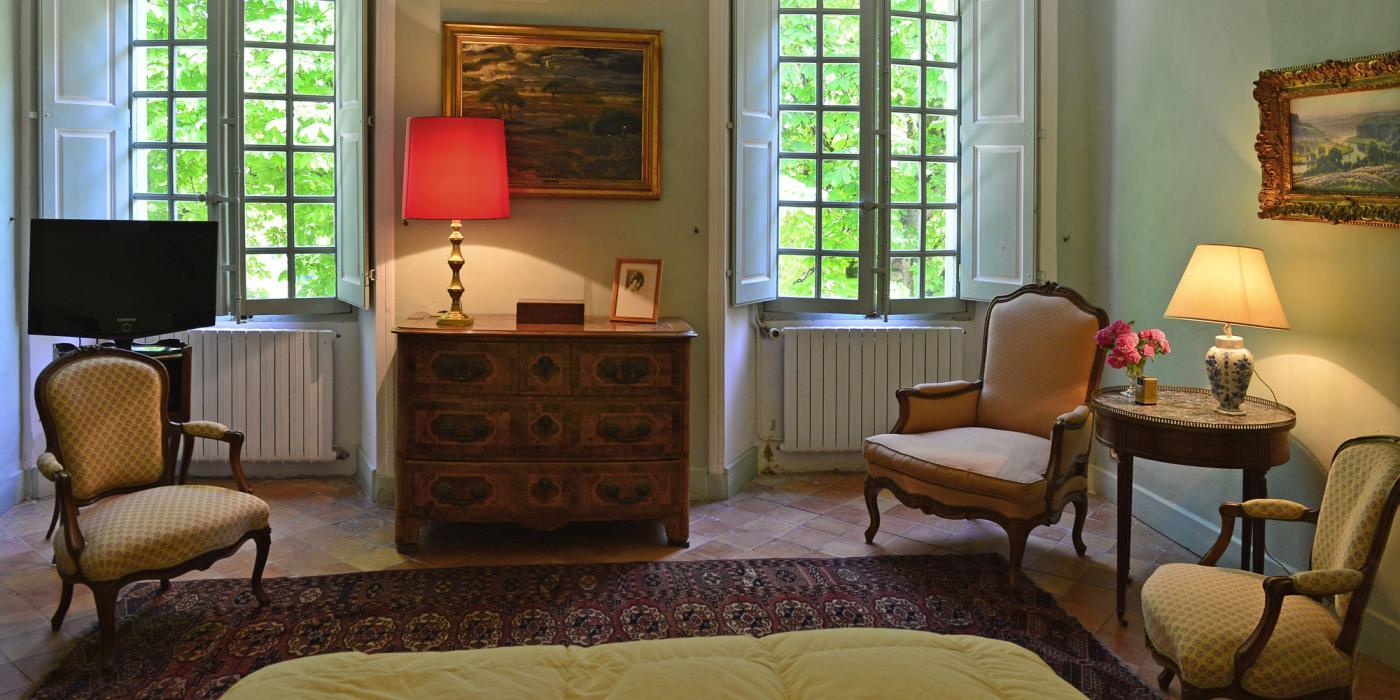 Chambre Napoleon III avec salle de bain attenante, clos de Villeneuve, Valensole en provence