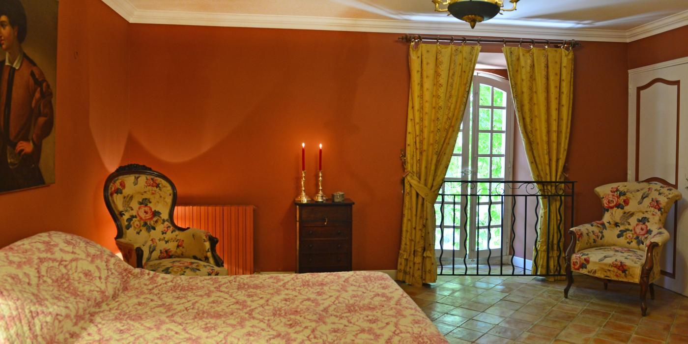 Chambre Napoléon avec salle de bain attenante, clos de Villeneuve, Valensole en provence